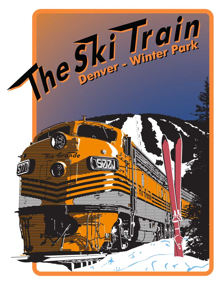 Deluxe Print of Ski Train Denver Winter Park