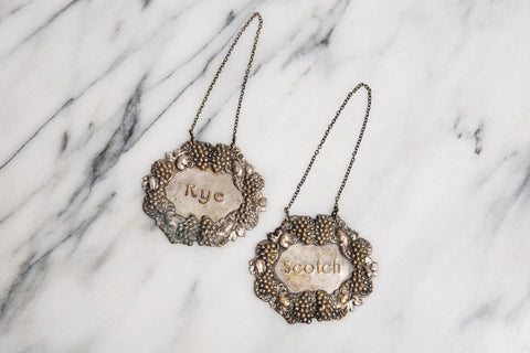 Vintage Liquor Decanter Tags