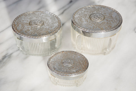 French 1920's Vanity Jars