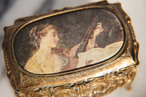 Vintage Music Jewelry Box