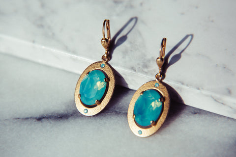 Odessa Earrings, Turquoise