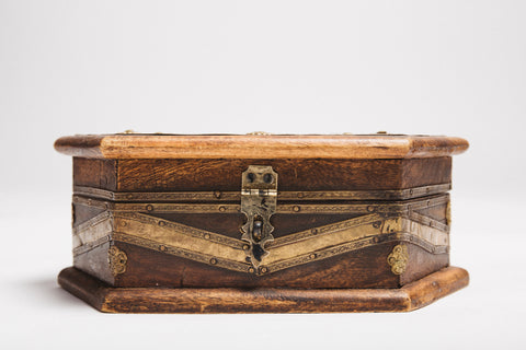 Vintage European Wood Box