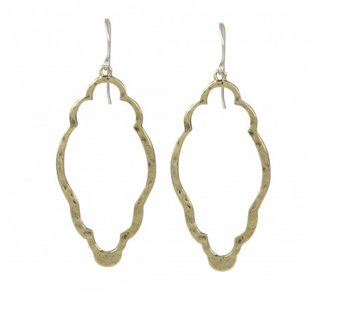 Clover Earrings - Brass