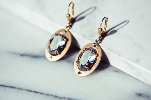 Odessa Earrings, Crystal