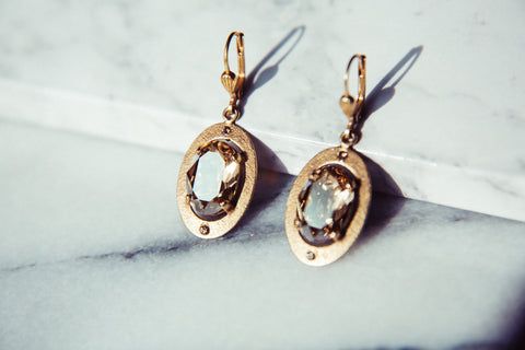 Odessa Earrings, Champagne