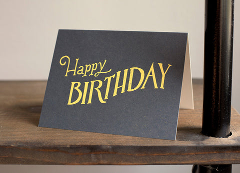 """Happy Birthday"" Hand Lettered Card"