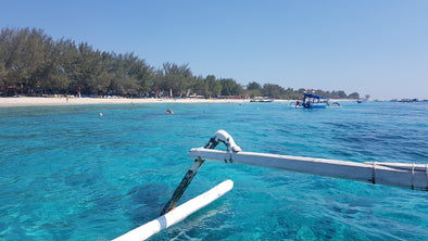 Swimming with the turtles at Gili Air
