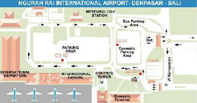 Bali airport map international and domestic