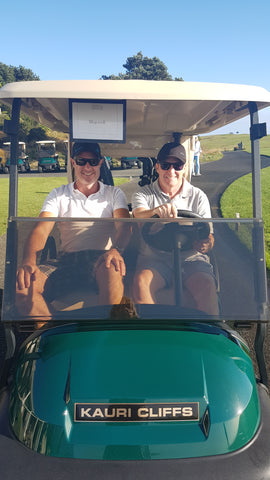 Golf cart Kauri Cliffs Golf Course