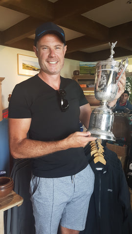 US Open replica cup from winner Michael Campbell Kauri Cliffs Golf Course