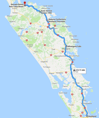 Auckland to Taipa Road Trip