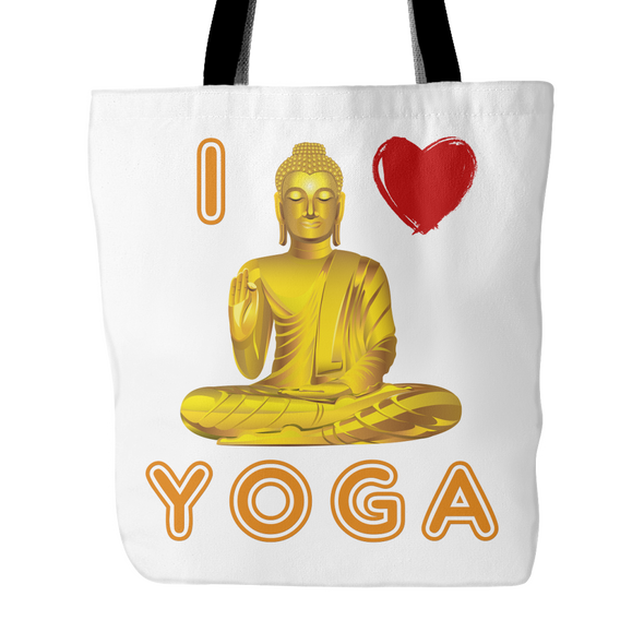 I Love Yoga Tote Bag, Tote Bags - CLICKIT2YOU