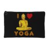 I Love Yoga Fashion Pouch, Accessory Pouches - CLICKIT2YOU