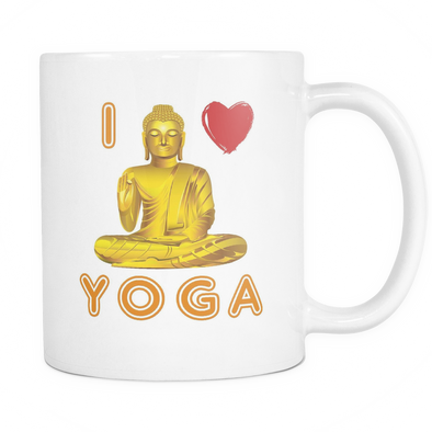 I Love Yoga Mug, Drinkware - CLICKIT2YOU