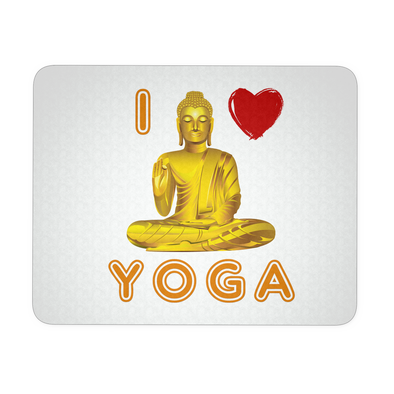 I Love Yoga Mouse Pad, Yoga Mouse Pads - CLICKIT2YOU