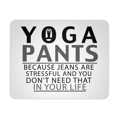Yoga Pants - Mouse Pad, Mousepads - CLICKIT2YOU