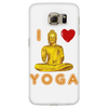 I Love Yoga Phone Cover (White), Phone Cases - CLICKIT2YOU