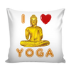 I Love Yoga Pillow Cover, Pillows - CLICKIT2YOU