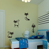 Cat Wall Stickers (4 Black Cat Stickers), Stickers - CLICKIT2YOU