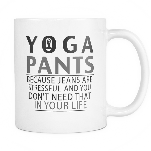 Yoga Pants Mug, Drinkware - CLICKIT2YOU