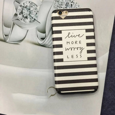 "iPhone 'Live More Worry Less"" Phone Cover, Phone Cover - CLICKIT2YOU"