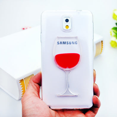 Red Wine Samsung Phone Cover, Phone Cover - CLICKIT2YOU