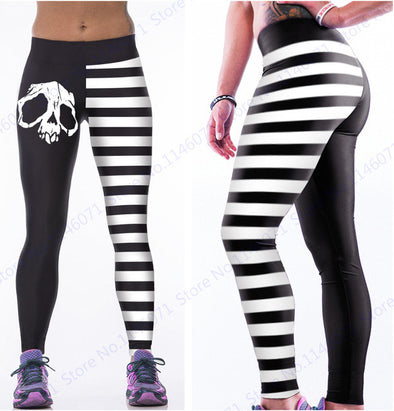 Skull Yoga Pants, yoga leggings - CLICKIT2YOU