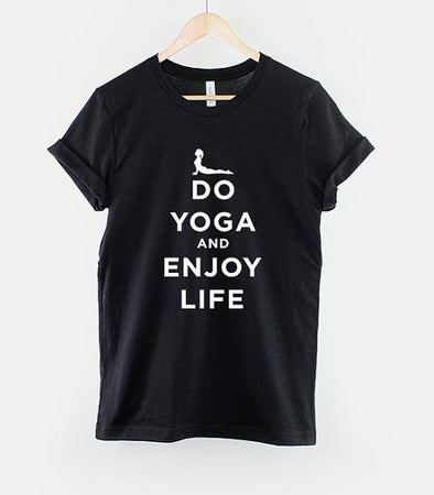 Best Seller - Do Yoga And Enjoy Life t-shirt!, Yoga Top - CLICKIT2YOU