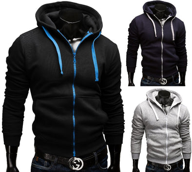 Causal Zipper Mens Hoodie, hoodie - CLICKIT2YOU