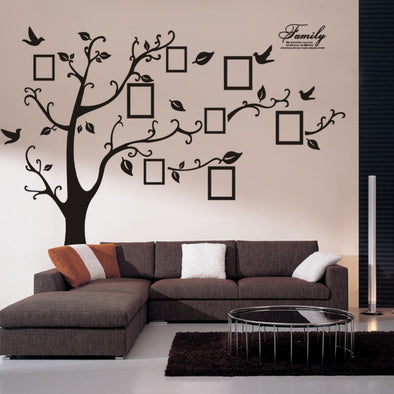 3D DIY Photo Tree Wall Decals/Adhesive Family Wall Stickers, Wall Sticker - CLICKIT2YOU