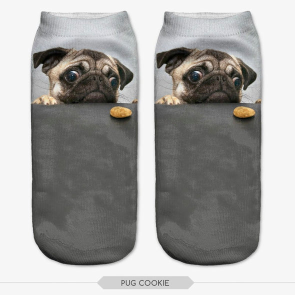 FREE 3D Cute Dog Ankle Socks - Just Pay Shipping & Handling, Dog Socks - CLICKIT2YOU