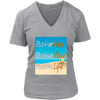 Beach Vibe Woman's Round & V-neck T-shirt, T-shirt - CLICKIT2YOU