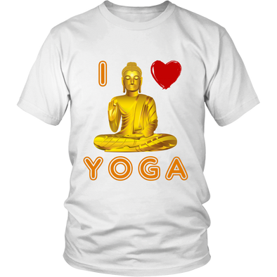 I Love Yoga Unisex Apparel, T-shirt - CLICKIT2YOU