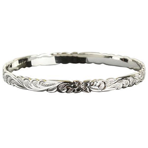 Hawaiian Jewelry Queen Cut Out One Tone Baby Bangle 8mm