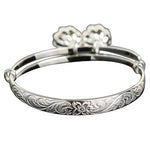 Hawaiian Jewelry Baby Scroll Bangle w/bell