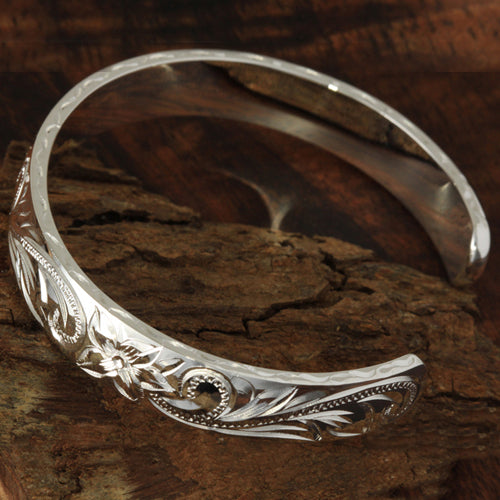 Hawaiian Jewelry Heavy Scroll Cuff Bangle