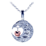 Sterling Silver Scroll C/O Heart+Heart Pendant