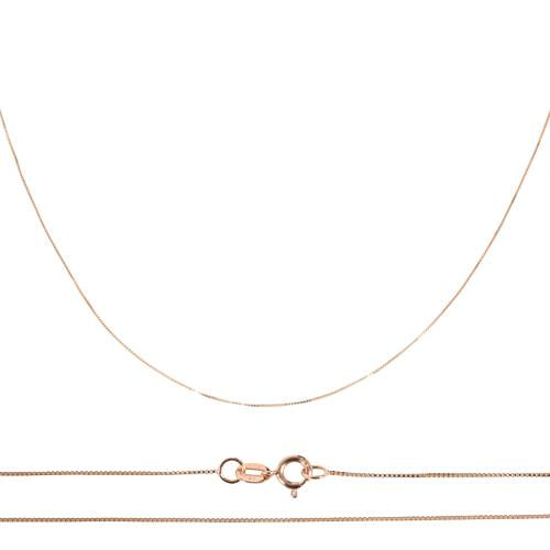 14K Pink Gold Box Chain