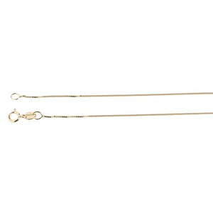 14K Yellow Gold Box Chain