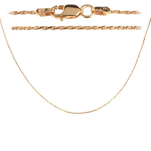 14K Pink Gold Rope Chain