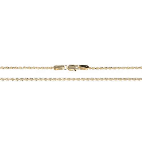 14K Yellow Gold Rope Chain