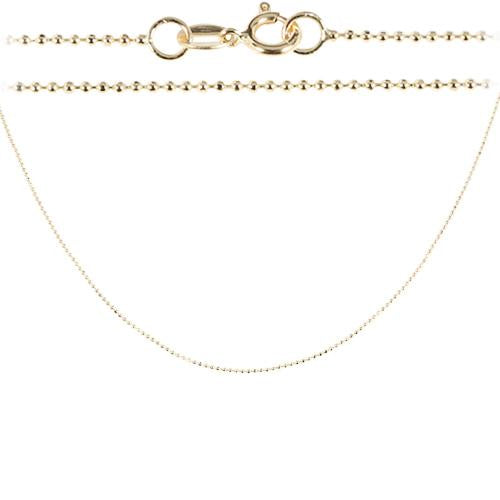 14K Yellow Gold Ball Chain