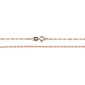 14k Pink Gold Singapore Chain