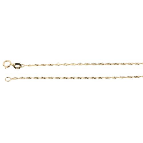 14k Yellow Gold Singapore Chain