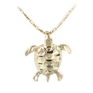 14K Yellow Gold Turtle Pendant