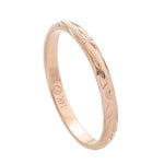 Hawaiian Jewelry 14K Pink Gold 2mm King Scrolling Ring