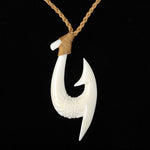 Cow Bone Handcrafted Fish Hook Necklace