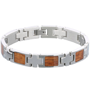 Koa Wood Inlay Bracelet