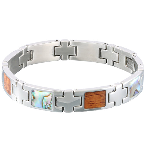 Koa Wood Abalone Inlay Bracelet