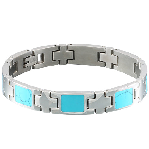 Turquoise Inlay Bracelet - Makani Hawaii Jeweler